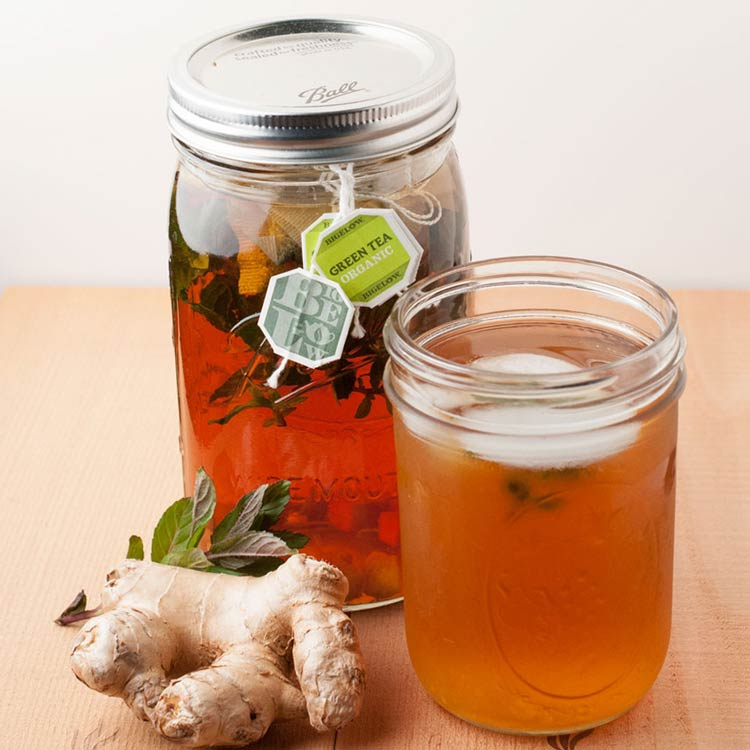 Ginger Mint Sun Tea