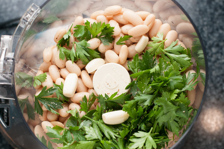 cannellini beans and fresh herbs