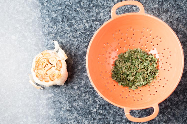 Garlic Thyme Compound Butter Ingredients