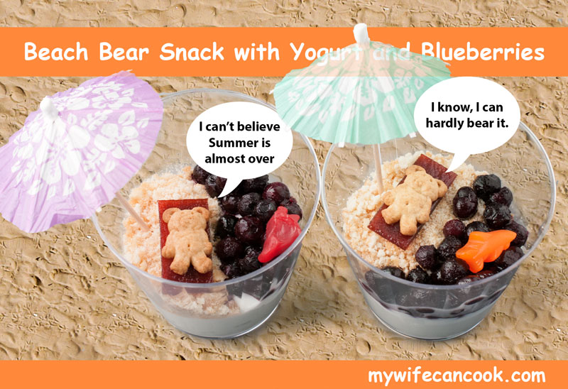 Yogurt and Blueberry Beach Themed Snack