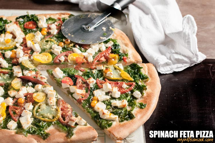 simple-spinach-feta-pizza