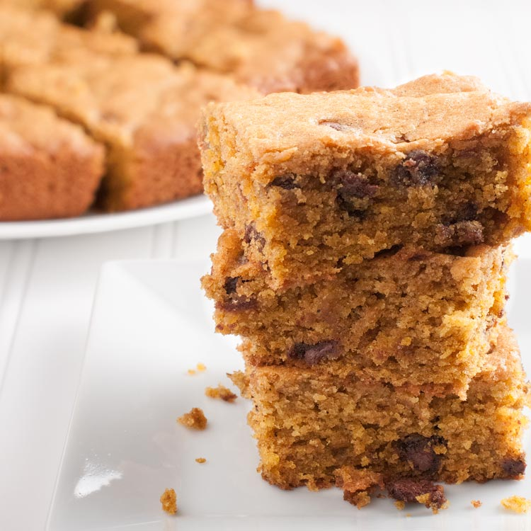 Easy Bake and Take Pumpkin Spice Chocolate Chip Bars