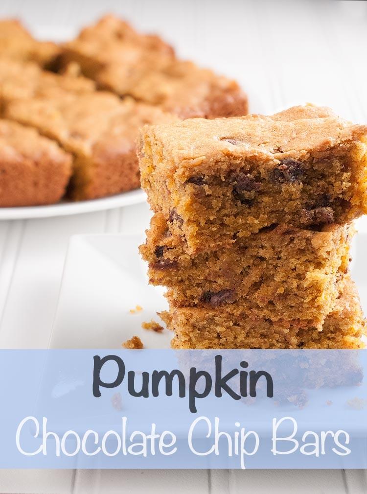 Easy Bake and Take Pumpkin Chocolate Chip Bars