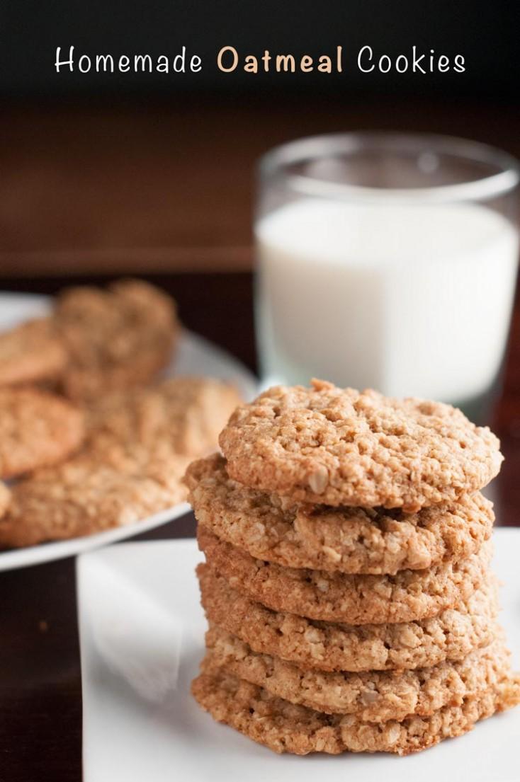 Easy Homemade Quaker Oats Oatmeal Cookies