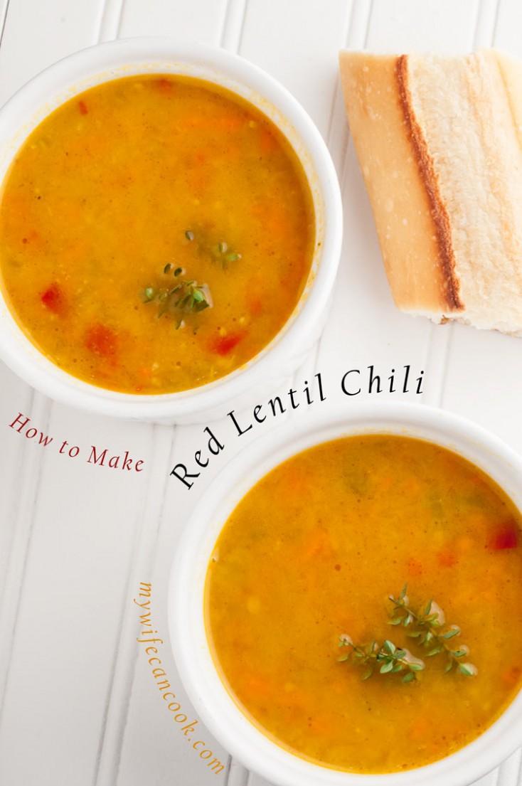 Wegman's Inspired Red Lentil Chili