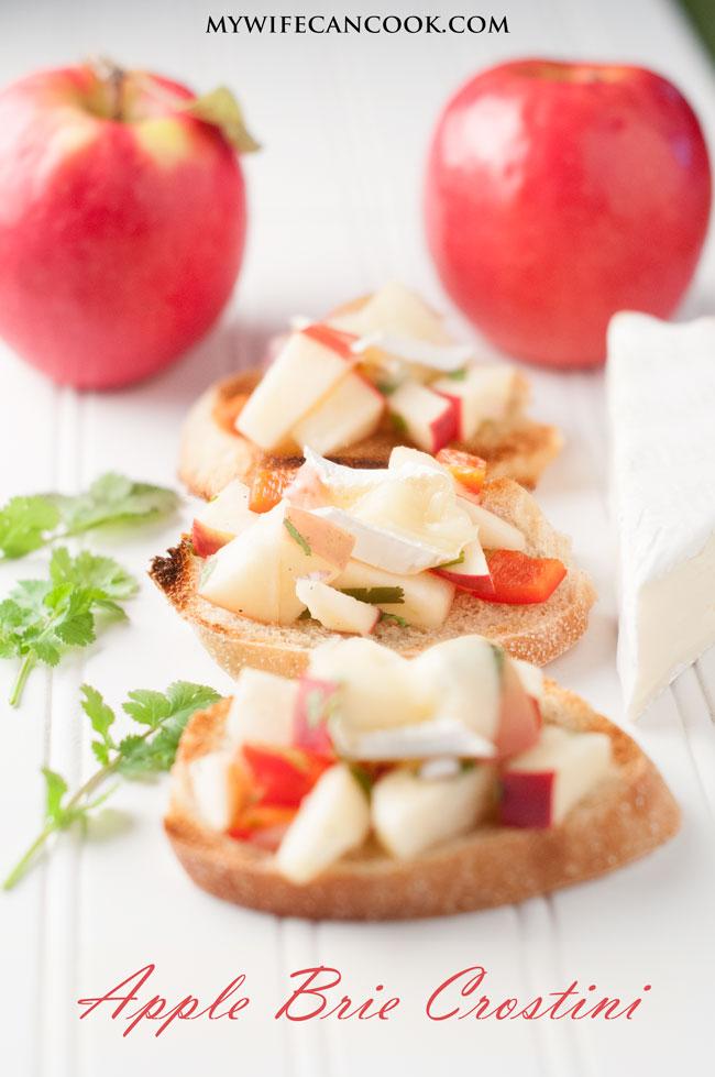 Apple Brie Crostini Appetizer