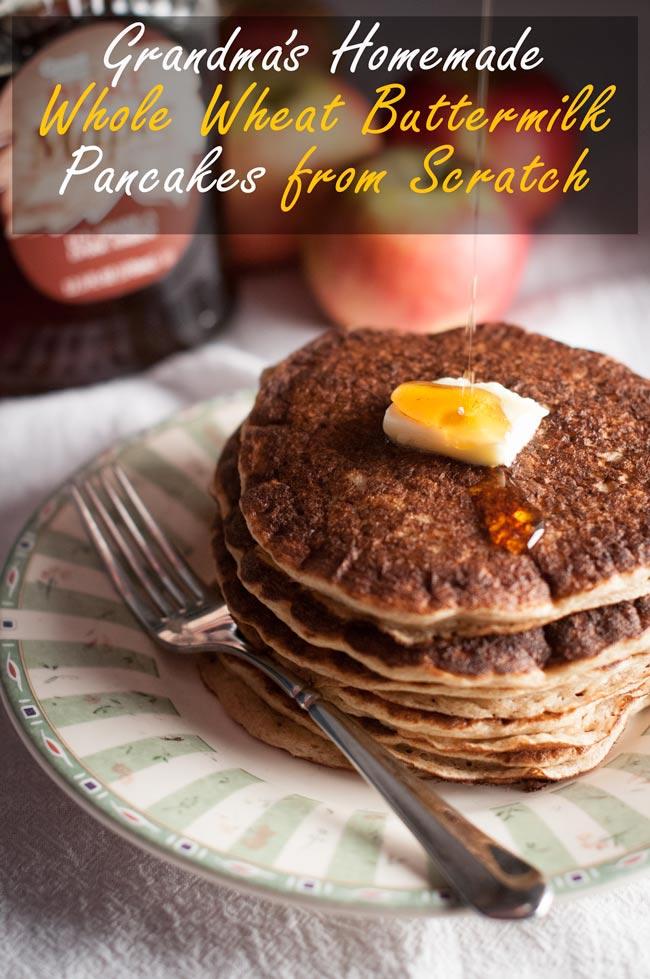 Grandma's Homemade Buttermilk Pancakes from Scratch