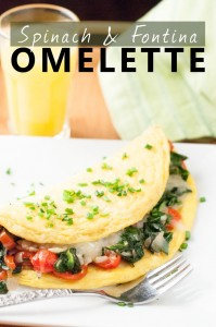 Spinach and Fontina Veggie Omelette