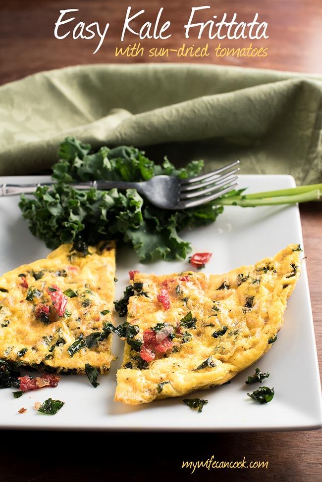Sun-Dried Tomato and Kale Breakfast Frittata