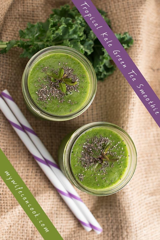 Tropical Kale Green Tea Smoothie