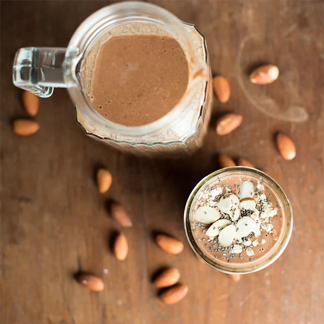 Chocolate Almond Vegan Smoothie