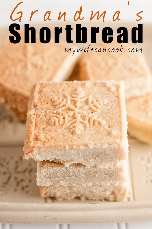 Grandma's Easy Shortbread Cookies