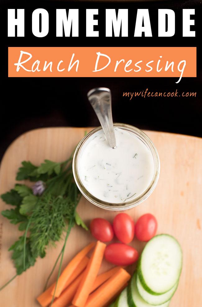 Creamy Homemade Ranch Dressing