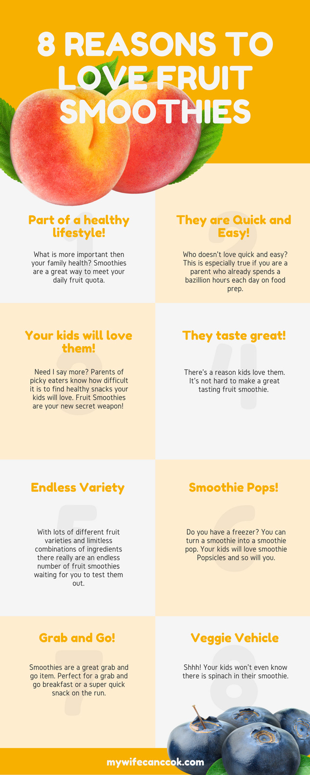 8 Reasons to Love Fruit Smoothies Infographic